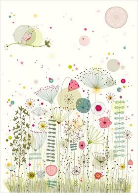 Flower Print - Nature Wall Art for Kids - Amélie Biggs
