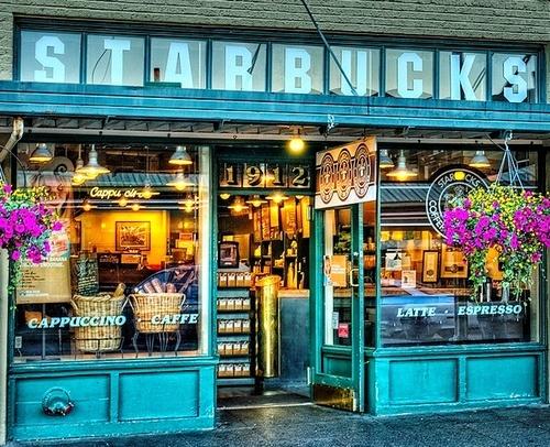 Original Starbucks, Seattle.