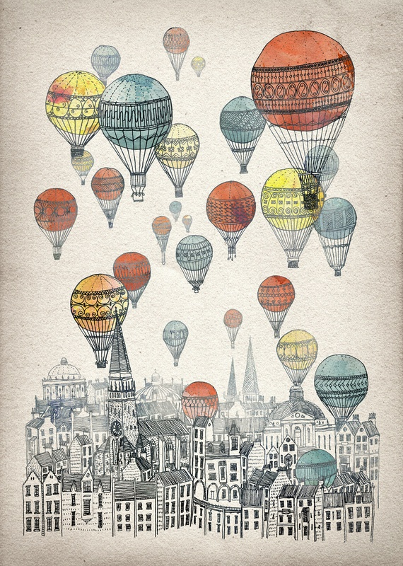 Voyages over Edinburgh by David Fleck